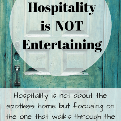Hospitality is NOT Entertaining