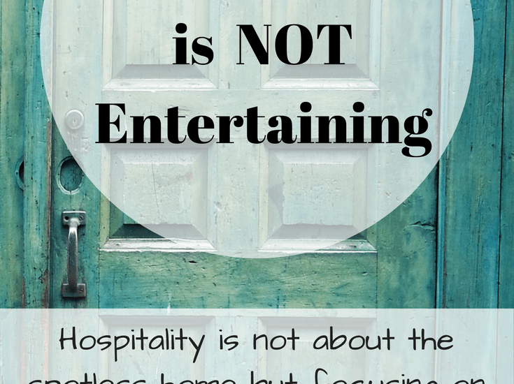 Hospitality is not about the spotless home