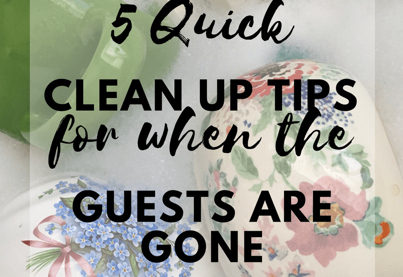 5 quick cleanup tips