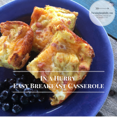 Amazing Breakfast Casserole in a Hurry