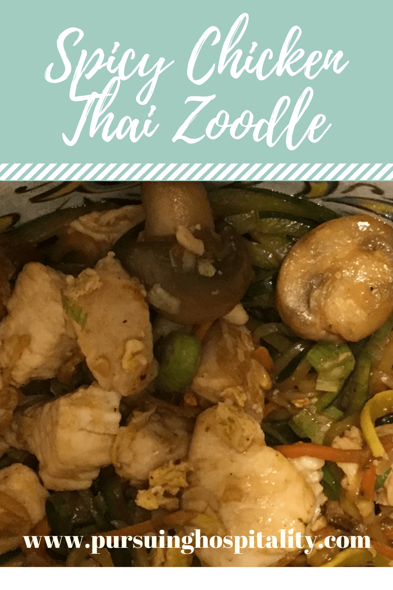 Spicy Chicken Thai Zoodle