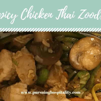 Amazing Spicy Chicken Thai Zoodle Recipe