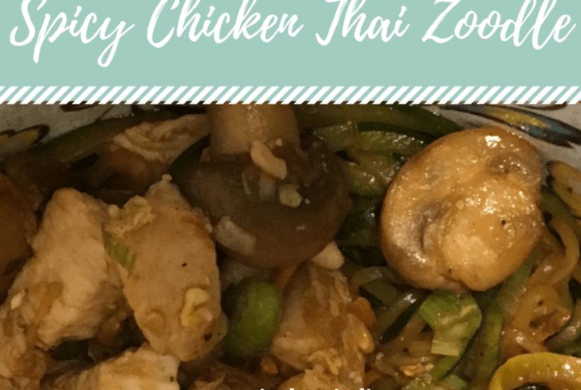 Spicy Chicken Thai Zoodle Facebook.