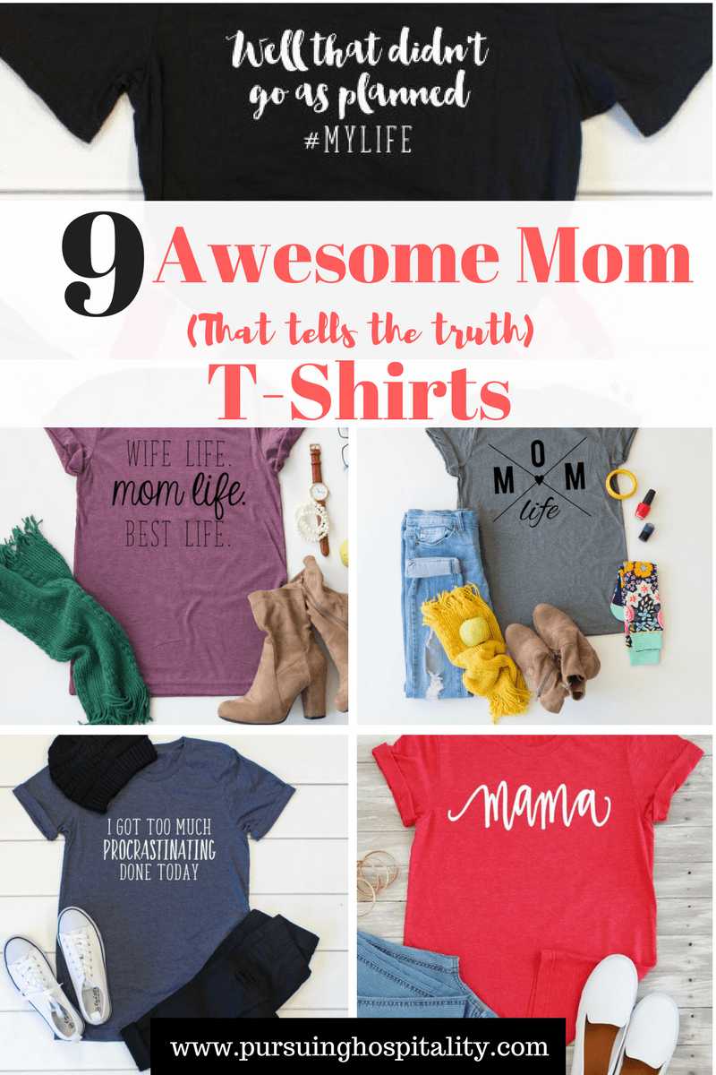 9 Awesome Mom T-shirts