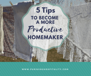 Productive Homemaker Tips