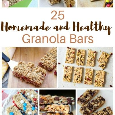 25 Homemade and Healthy Granola Bars