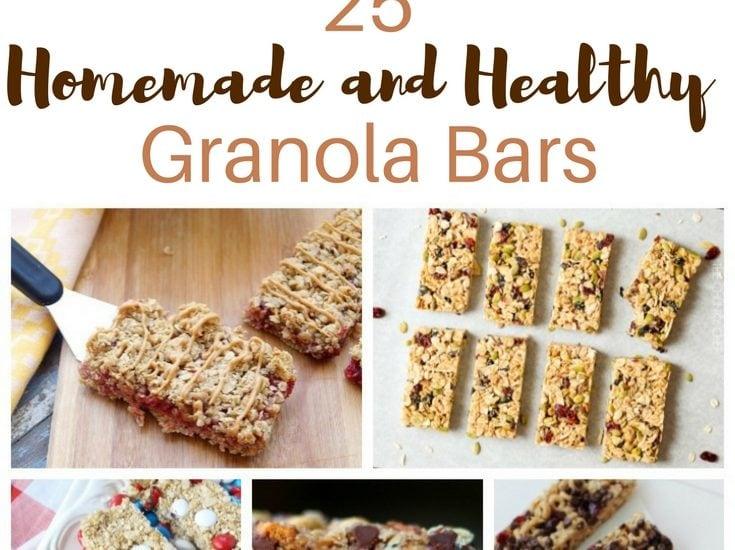 25 homemade and healthy granola bars