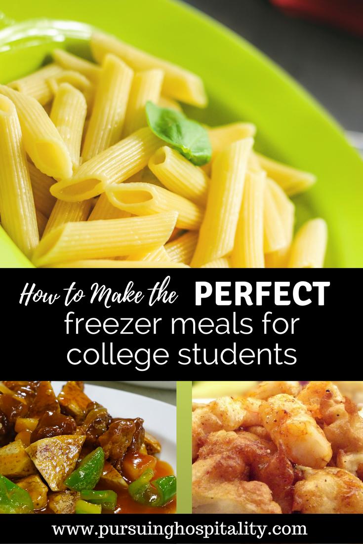 College Freezer Meals