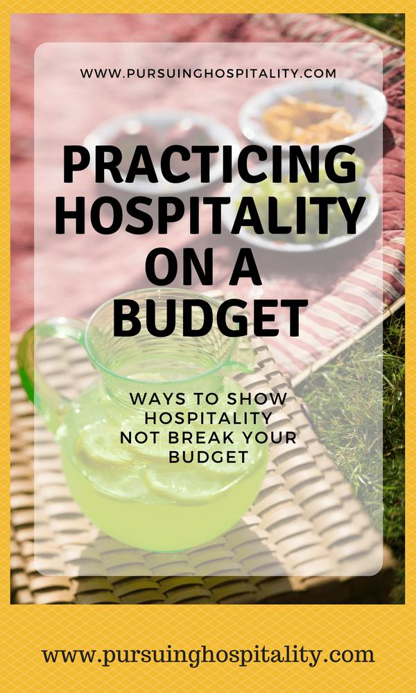Hospitality on a budget