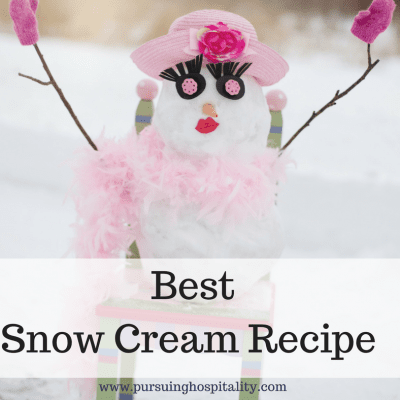 Best Snow Cream Recipe