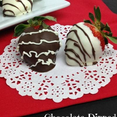 Chocolate Dipped Strawberries for Valentines Day