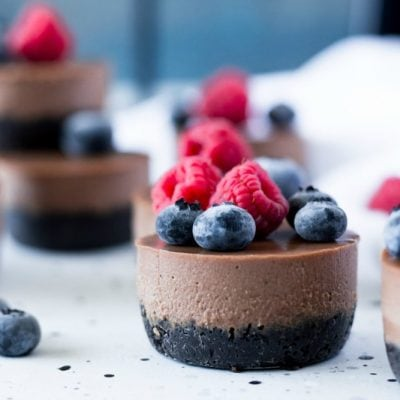 Vegan Mini Chocolate Cheesecakes
