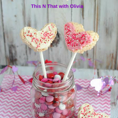 Rice Krispie Heart Pops