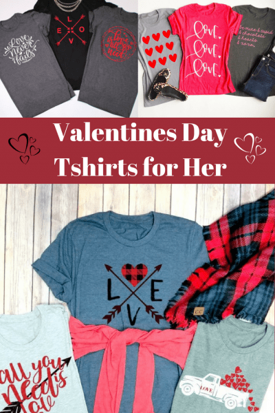 Cute Valentines day t-shirts for her