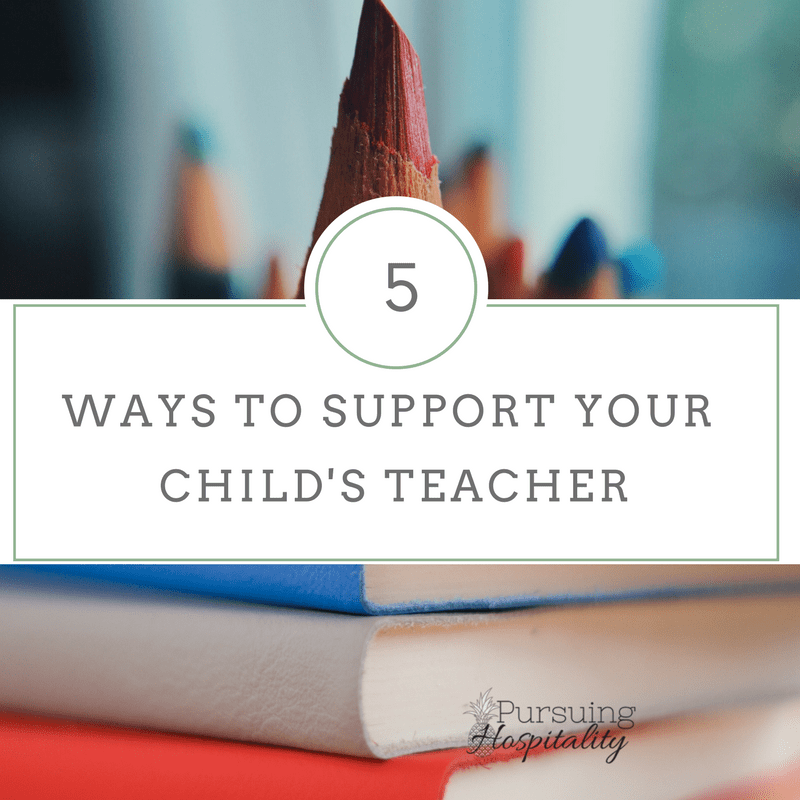 support your child's teacher