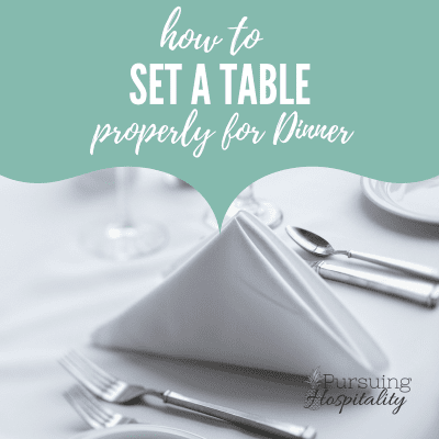 How To  Set A Table Properly for Dinner