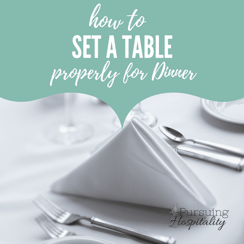 how to properly set a table with silverware