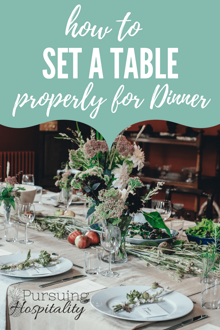 How To Set A Table Properly For Dinner Pursuing Hospitality