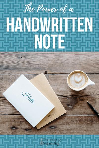 The Power of a Handwritten Note