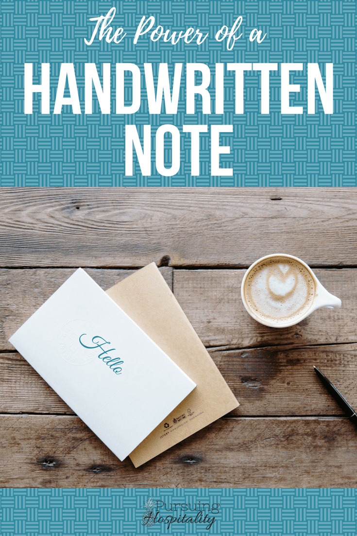 Power of a Handwritten Note