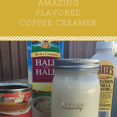 DIY Flavored Coffee Creamer that is Amazing