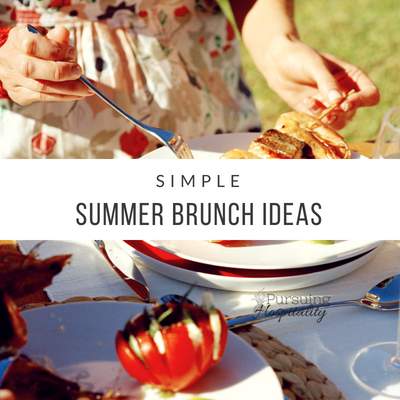 Simple Summer Brunch Ideas