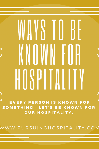 ways to be known for hospitality