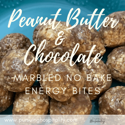 Peanut Butter & Chocolate Marbled No Bake Energy Bites
