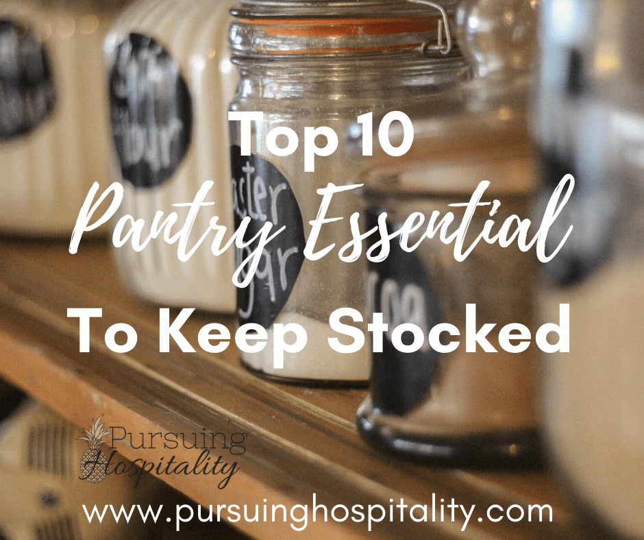 Top 10 Pantry Essentials to keep stocked