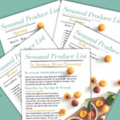 Seasonal Produce to Meal Plan