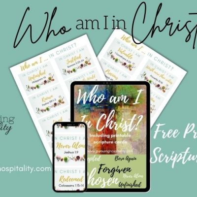 Who am I in Christ? PLUS Printable Scripture Cards
