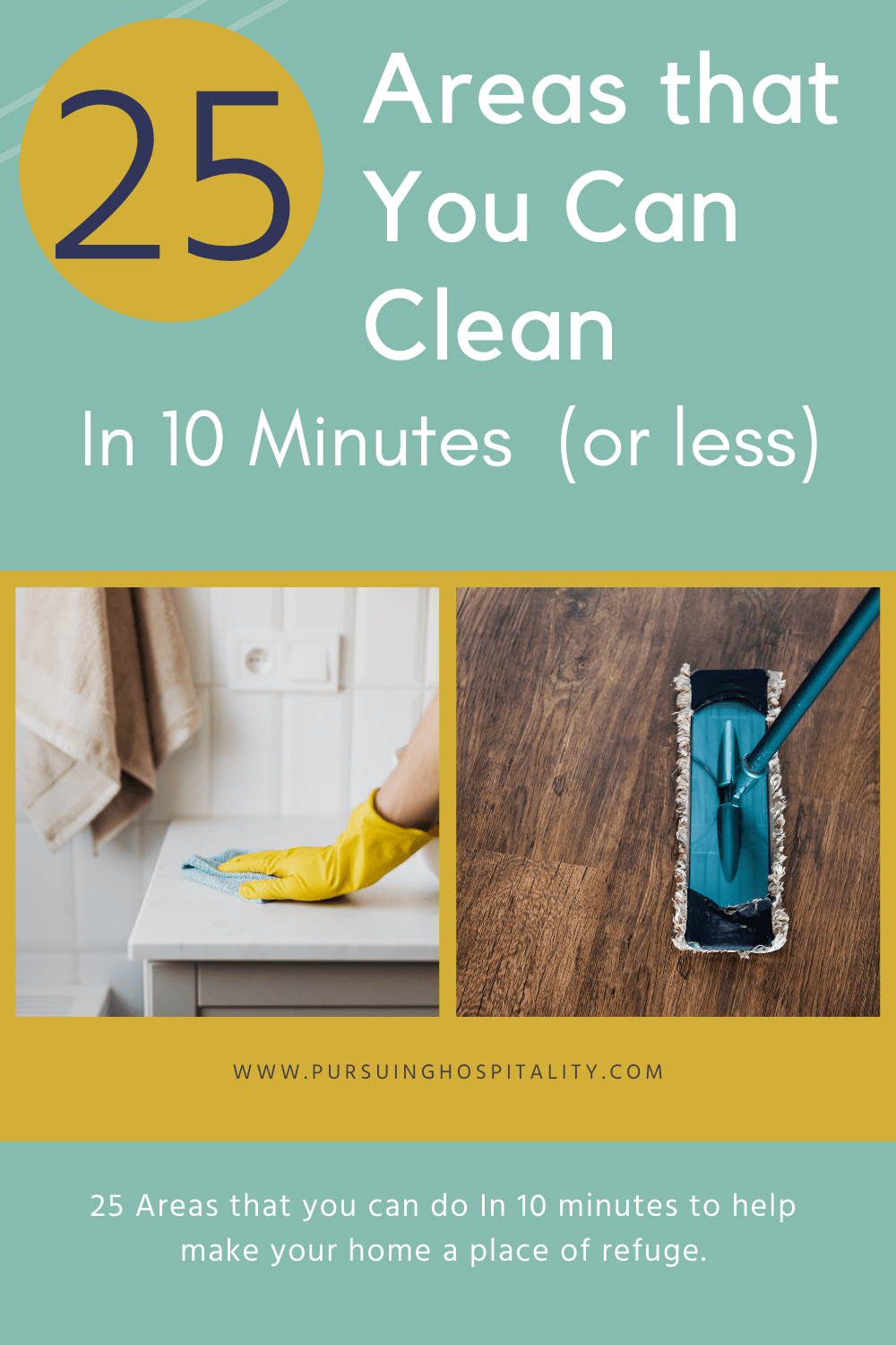 25 areas you can clean in 10 minutes or less